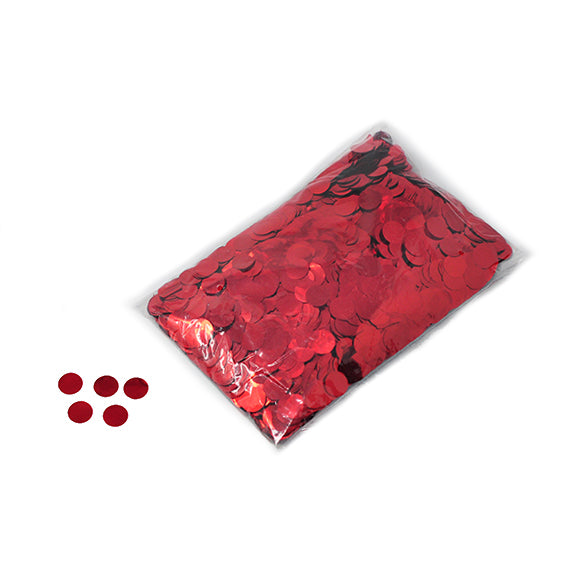Red 20mm Round Metallic Confetti