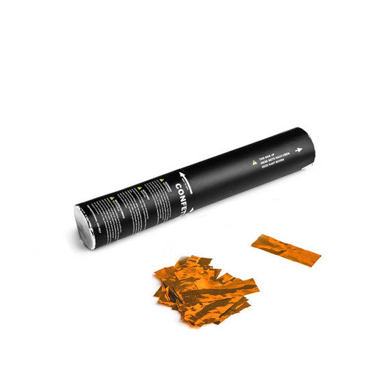 Orange Metallic Confetti Cannon