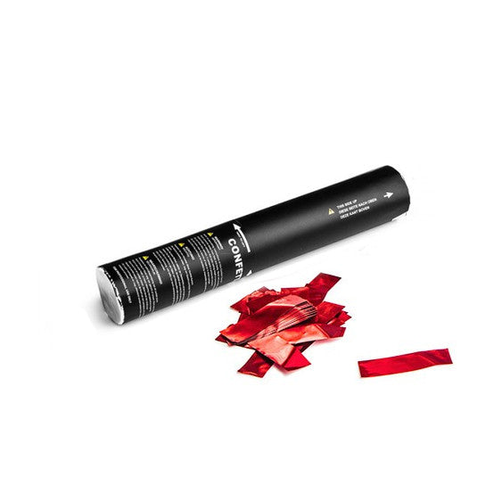 Red Metallic Confetti Cannon