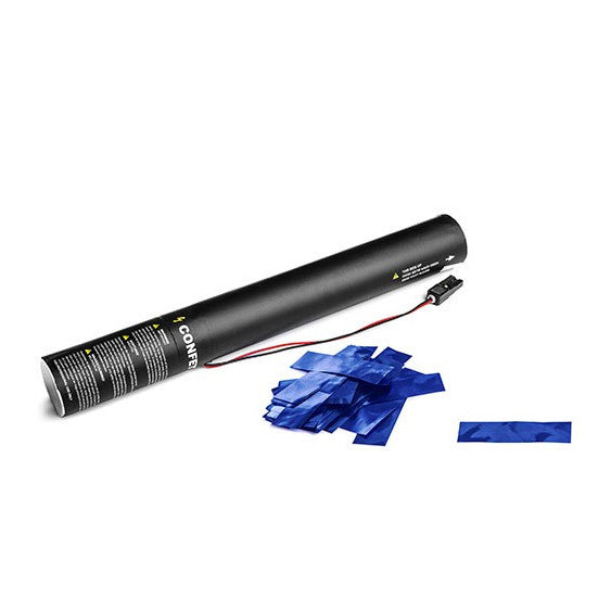 Blue Metallic Confetti Cannon