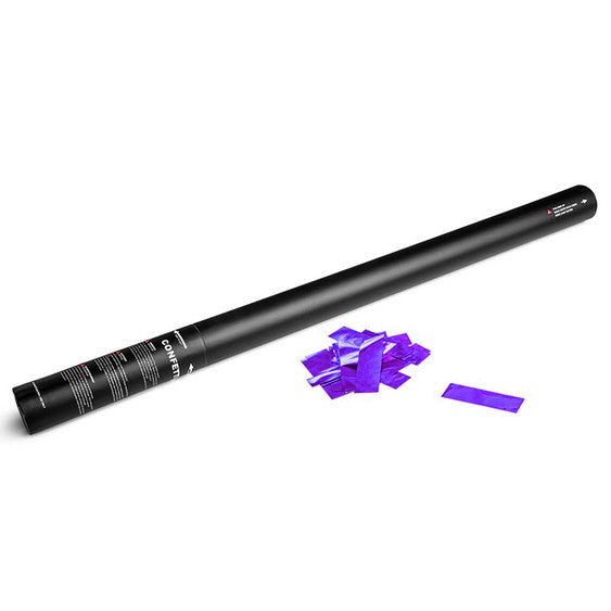 Purple metallic confetti cannon