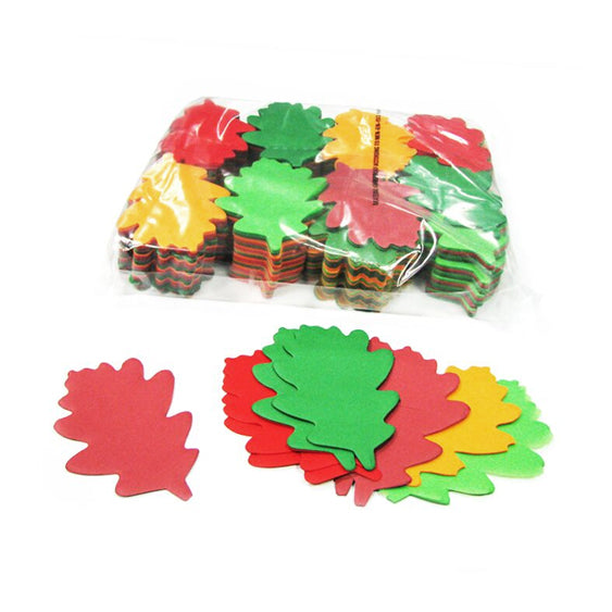 Mixed Paper Confetti Oak Leaves