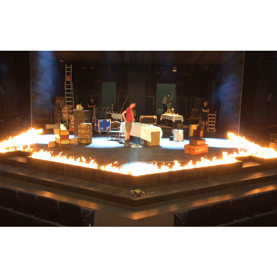 Theatre flame bar install