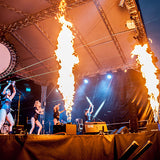 Festival Stage Flame Hire
