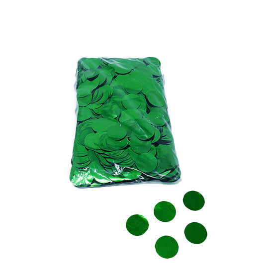 Green 30mm Round Metallic Confetti