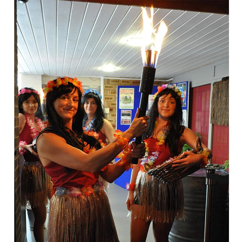 Handheld Flame Torches Credit Thetford Players & Maria Cooke