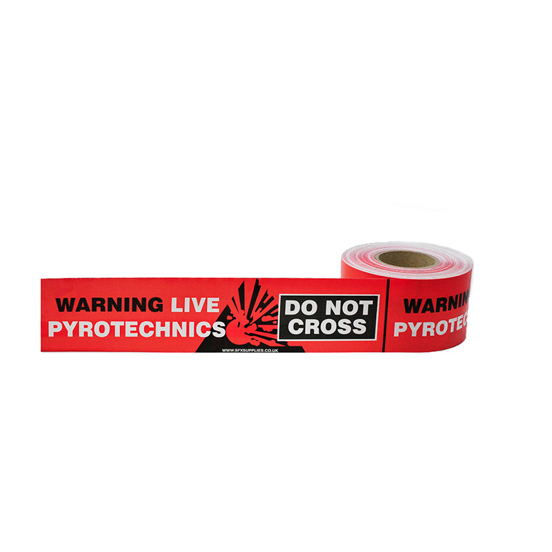 'Live Pyrotechnics Do Not Cross' Barrier Tape
