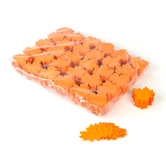 Orange confetti leaves