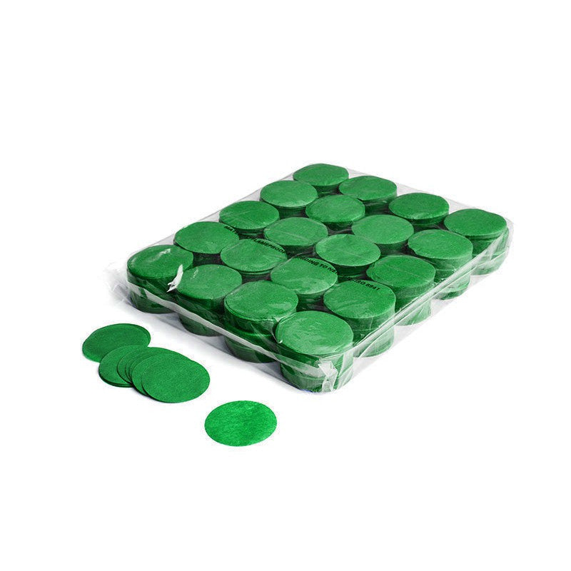 Paper Confetti Circles - Dark Green