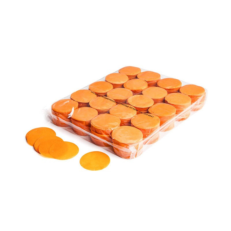 Paper Confetti Circles - Orange
