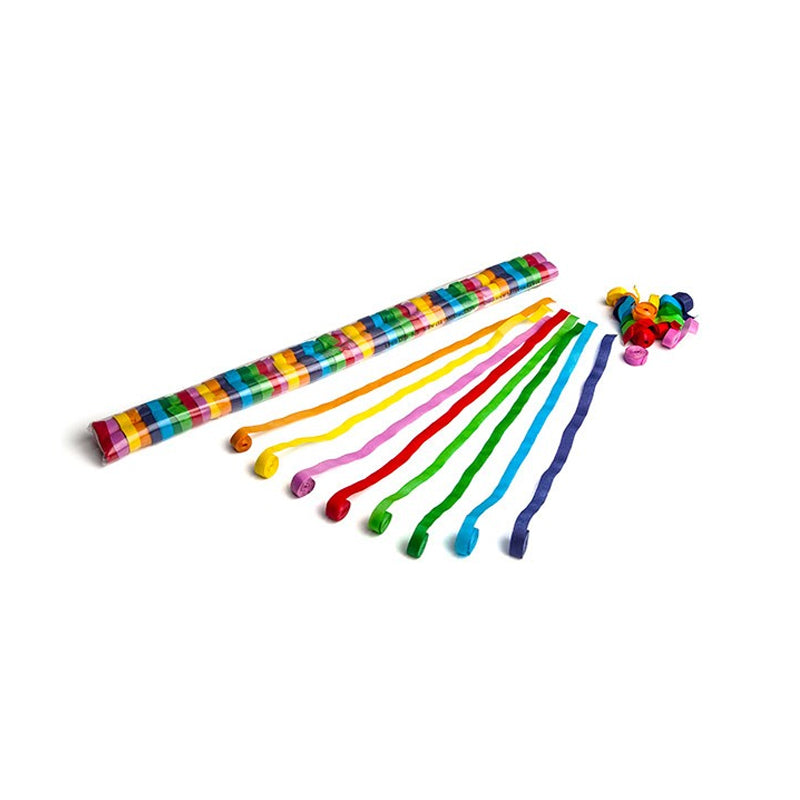 Bulk Purchase 10mx 1.5cm Paper Streamers - Multi (50pcs)