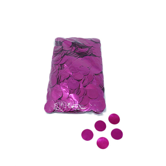 Pink 30mm Round Metallic Confetti