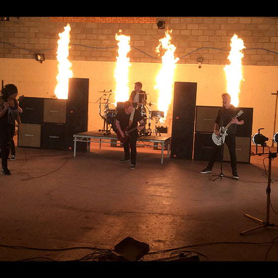 Music Video Stage Flame Hire