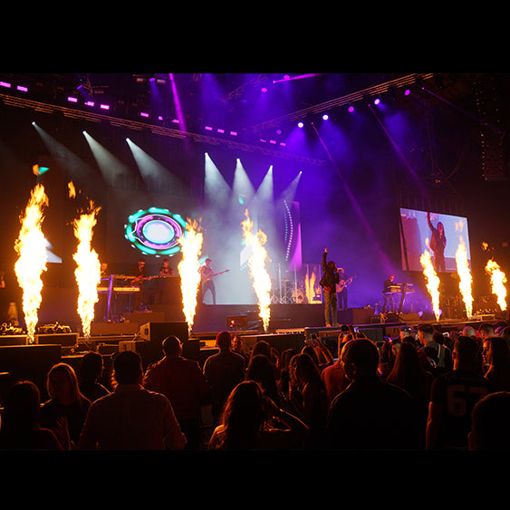 Tour Stage Flame Hire