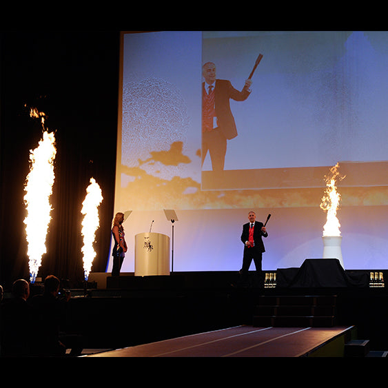 Corporate Stage Flame Hire