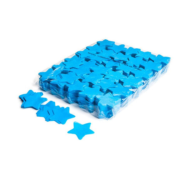 Light Blue Paper Confetti Stars