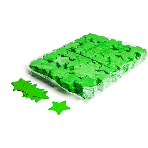 Light Green Paper Confetti Stars
