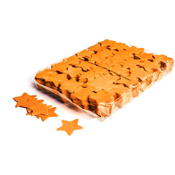 Orange Paper Confetti Stars