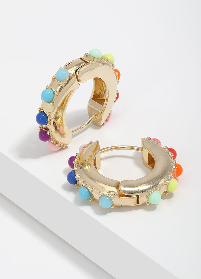 Small Gold Hoop Huggie Earrings For Women