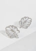 Leaf Cubic Zirconia stud earrings for women