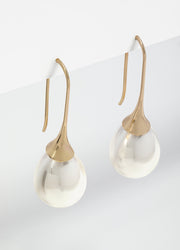 Gold Peal Drop Earrings For Women