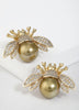 Gold Bee Stud Earrings For Women