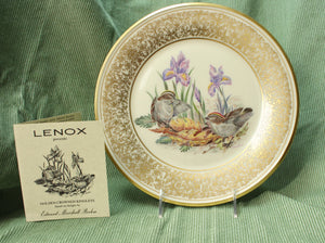 Boehm Bird Plate- Golden-Crowned Kinglets (1979)