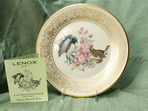 Boehm Bird Plate- Black-Throated Blue Warblers (1980)