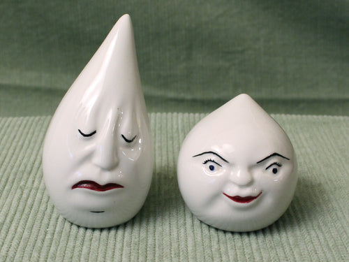 Drip & Drop -Vintage Salt & Pepper Shakers