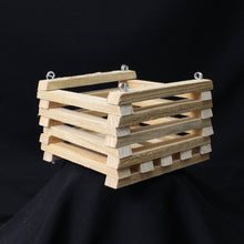 "Load image into Gallery viewer, Cypress Wood Basket- 6"" x 6"""