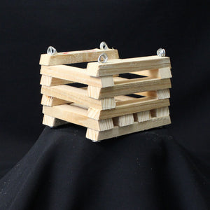 "Cypress Wood Basket- 4"" x 4"""