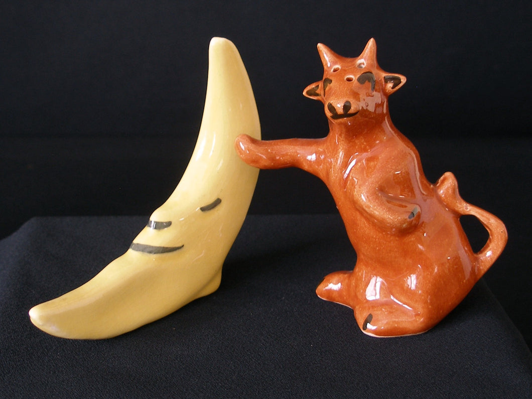 Hey Diddle Diddle -Vintage Salt & Pepper Shakers