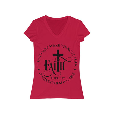 Women's Faith Jersey Short Sleeve V-Neck Tee