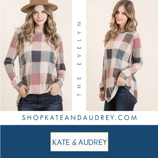 The Evelyn - A Plaid Pull Over At Our Online Boutique