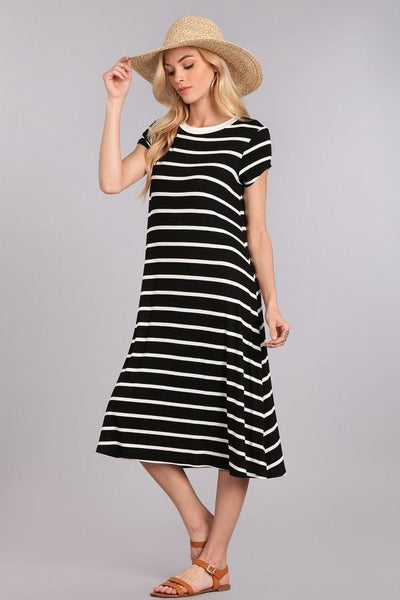 Come See This Midi T-Shirt Dress At Our Online Boutique Store!