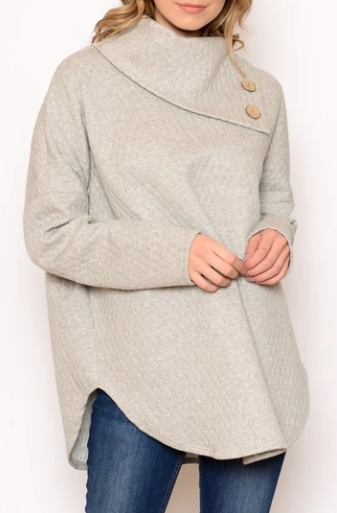 Oatmeal Grey Sweater At An Online Boutiques Store