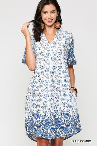 Blue & White Dress At Our Online Boutique Store