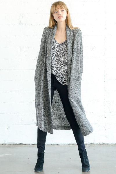 A Charcoal Cardigan Duster at Our Online Boutique Store
