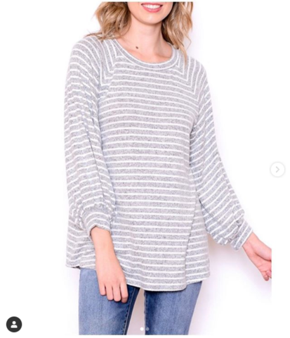A Beautiful Heather Gray Sweater at our Online Boutique Store