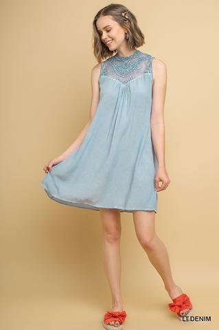 Sleeveless Powder Blue Dress At Our Online Boutique Store
