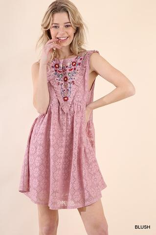 Floral Crochet Dress At Our Online Boutique Store