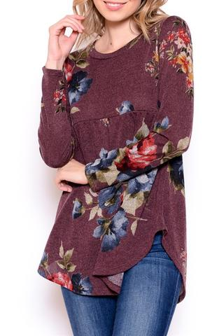 Floral Hem Sweater at our Online Boutique Store