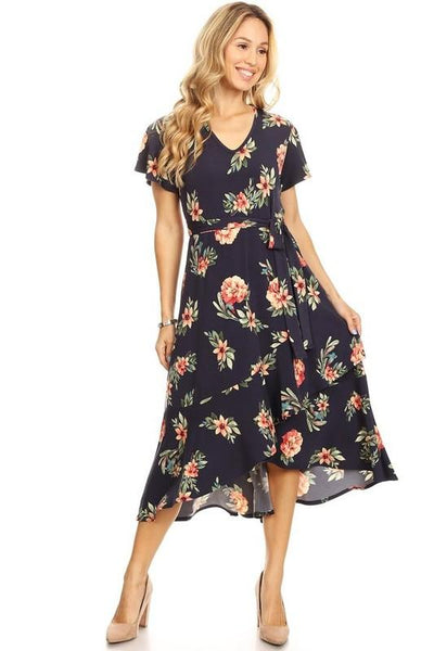 Navy Floral Dress At Our Online Boutique Store