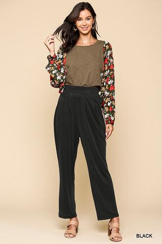 Black Cupro Pleated Pants At Our Online Boutique Store