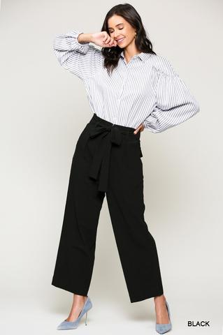 Black Tie Waisted Pant At Our Online Boutique Store