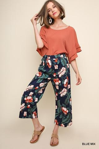 High Waist Red Floral Pant At Our Online Boutique Store