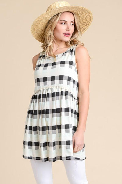 Plaid Sleeveless Top At Our Online Boutique Store