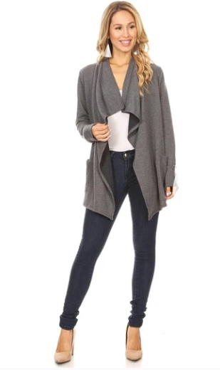 Charcoal Gray Cardigan At Online Boutiques