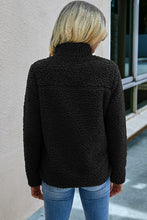 Load image into Gallery viewer, Black Fleece Jacket