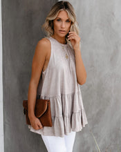 Load image into Gallery viewer, Beige Sleeveless Top